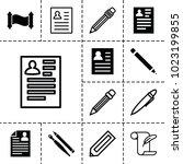 write icons. set of 13 editable ...   Shutterstock .eps vector #1023199855