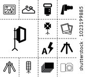photograph icons. set of 13... | Shutterstock .eps vector #1023199885