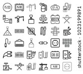 cable icons. set of 36 editable ... | Shutterstock .eps vector #1023199891