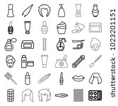 cosmetic icons. set of 36... | Shutterstock .eps vector #1023201151