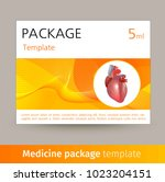 medicine package template... | Shutterstock .eps vector #1023204151