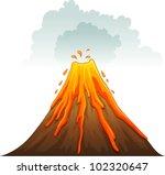 illustration of a volcano... | Shutterstock .eps vector #102320647