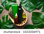 spa natural products concept ...   Shutterstock . vector #1023206971