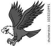 eagle mascot illustration   a... | Shutterstock .eps vector #1023210991