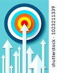 volume target icon in flat... | Shutterstock .eps vector #1023211339