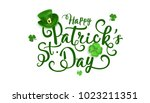 happy saint patrick's day... | Shutterstock .eps vector #1023211351