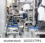 industry 4.0 robot concept .the ... | Shutterstock . vector #1023217591