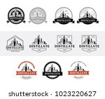 set of distillery production... | Shutterstock .eps vector #1023220627