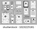 corporate identity template set.... | Shutterstock .eps vector #1023225181