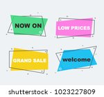 sale collection flat linear... | Shutterstock .eps vector #1023227809