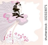 a dancer  dressed in a tutu is... | Shutterstock .eps vector #102323071