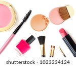 cosmetics and makeup. tools for ... | Shutterstock . vector #1023234124