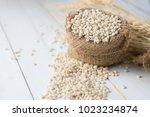 Barley Grain In Wooden...