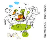 eco food  healthy lifestyle ... | Shutterstock .eps vector #102323701