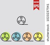 bobbin icon in trendy isolated... | Shutterstock .eps vector #1023237541