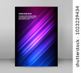 advertising flyer party design...   Shutterstock .eps vector #1023239434