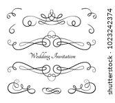 vintage calligraphic vignette... | Shutterstock .eps vector #1023242374