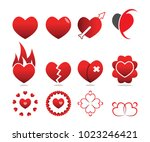 collection of love heart symbol ...   Shutterstock .eps vector #1023246421