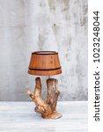 loft style vintage lamp in a... | Shutterstock . vector #1023248044