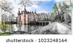 romantic castles of europe .... | Shutterstock . vector #1023248164