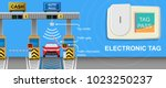 toll tag trip security iot... | Shutterstock .eps vector #1023250237