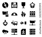 storage icons. set of 16...   Shutterstock .eps vector #1023255595