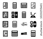 calculator icons. set of 16... | Shutterstock .eps vector #1023255601