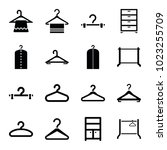 closet icons. set of 16...   Shutterstock .eps vector #1023255709