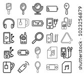 portable icons set of 25