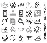 heart icons. set of 25 editable ... | Shutterstock .eps vector #1023257074