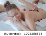 beautiful women relaxed with... | Shutterstock . vector #1023258595