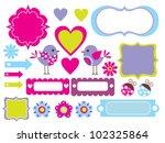 cute scrapbook collection.... | Shutterstock .eps vector #102325864