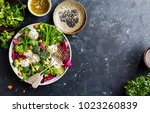 fresh salad with rice and... | Shutterstock . vector #1023260839