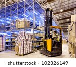 worker in the motion on... | Shutterstock . vector #102326149