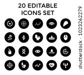 curve icons. set of 20 editable ... | Shutterstock .eps vector #1023262279
