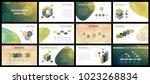 business presentation templates.... | Shutterstock .eps vector #1023268834