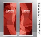 roll up business brochure flyer ... | Shutterstock .eps vector #1023269671