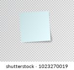 paper sticker with shadow on... | Shutterstock .eps vector #1023270019