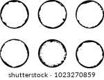 coffee stain ring vector  ... | Shutterstock .eps vector #1023270859