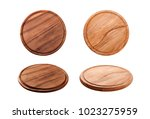 pizza board isolated on white... | Shutterstock . vector #1023275959