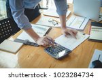 business and finance concept of ... | Shutterstock . vector #1023284734