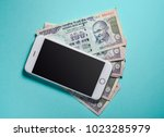 hundred rupees indian currency... | Shutterstock . vector #1023285979