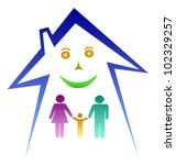 happy family in house   Shutterstock . vector #102329257
