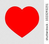 red heart on a transparent... | Shutterstock .eps vector #1023293251