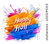 illustration of colorful happy... | Shutterstock .eps vector #1023295315