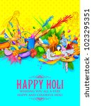 illustration of colorful happy... | Shutterstock .eps vector #1023295351
