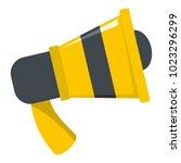 megaphone icon. flat...   Shutterstock .eps vector #1023296299