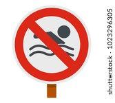 no swimming icon. flat... | Shutterstock .eps vector #1023296305