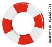lifebuoy icon. flat... | Shutterstock .eps vector #1023297031