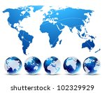 bright background with blue map ... | Shutterstock .eps vector #102329929